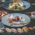 ディナーでは道産牛や石狩汁など、多彩な食材やご当地料理含んだコース料理をご用意しております。