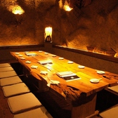 【大きな天然木テーブル】の雰囲気抜群の席
