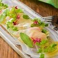 料理メニュー写真鮮魚のカルパッチョ ~トリュフソースと色々ハーブたち~