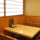 グループでお越しの際にも!1階テーブル席です。