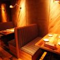 ゆったり寛げるソファータイプのテーブル席。お食事としてももちろん、家族でのご利用も◎