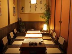 接待、顔合わせ、会食に人気のある3~8名様まで可能な掘りごたつの個室は、お子様連れの方にもおすすめです。