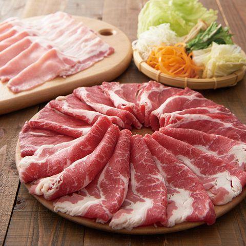 ≪しゃぶしゃぶと特選鍋≫厳選牛とアンデス高原豚食べ放題コース 2980円(税抜)