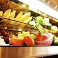 店長自ら選ぶ良質な季節の果物や野菜は原産までこだわりをもってのご提供!!