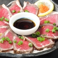 料理メニュー写真牛肉たたきのおろしポンズ