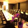 結婚式の2次会にもお使いいただけるように、テーブル完全個室もご用意しております!コース内容等、お気軽にご相談ください★