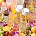 飲み放題は全100種以上♪カクテルや果実酒など女性に嬉しいドリンクも豊富◎