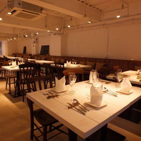 完全菜食を提供するビーガンレストラン。52席のワンフロアで貸切パーティも可能☆4~10人贅沢なプライベートパーティーが楽しめる完全個室有。イベントや各種パーティー◎