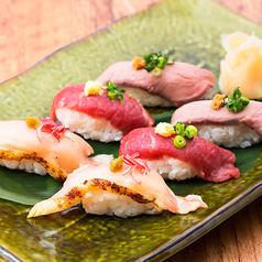肉の寿司盛り合わせ 3貫