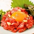 料理メニュー写真桜ユッケ