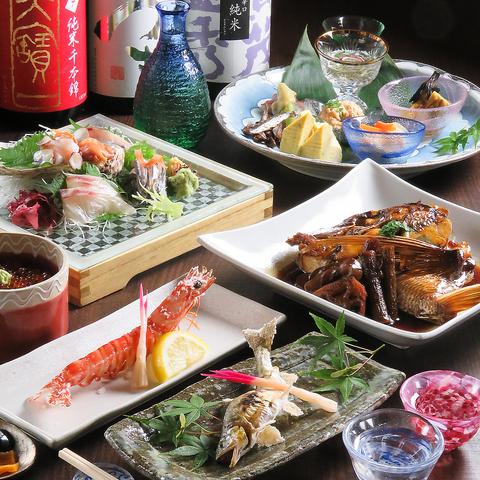 職人の業と心意気が光る≪本格和食≫を自慢の豊富な≪個室≫でご堪能下さい。