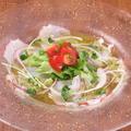 料理メニュー写真北海道産タコのジェノベーゼカルパッチョ