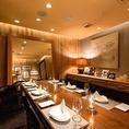2階にある個室は最大6名様まで可能です。※個室使用料5,000円頂戴致します