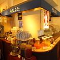 ドリンクバーは種類が豊富です♪ランチタイムは+200円(税抜)で飲み放題です!