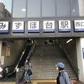 【アクセス】東武東上線みずほ台駅の西口よりお降り下さい。