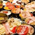 料理メニュー写真16種以上のもんじゃ等FOODMENUすべて食べ放題&3Hソフトドリンク飲み放題付2400円→2100円(税込)