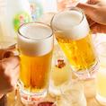 【ドリンク内容充実】お料理に合わせたお酒を種類豊富にご用意しております!生ビール、カクテル、梅酒、ワイン、銘柄焼酎、日本酒、ハイボール、サワー、オリジナルドリンクなど… さらにお酒好きのお客様には、飲み放題プランも◎団体/会社宴会/歓送迎会/飲み会/記念日/昼飲み