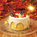 料理メニュー写真メッセージ付きシフォンケーキ(前日までの予約必須)