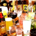 飲み放題は日本酒や焼酎等も多種多様!!ゆったり3時間のご用意もしております。