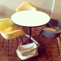 ◆ アームシェルチェアでコーヒータイム!