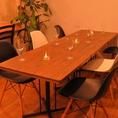 テーブル☆女子会・誕生日・宴会の二次会・結婚式の二次会に是非ご活用下さい♪少人数の貸切も可能です。オススメの和牛ステーキ、ハーフポンドステーキなど当店自慢の肉メニューも充実☆