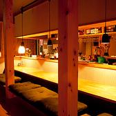 【臨場感溢れるカウンター席】仕事帰りのお一人様大歓迎♪美味しいお料理とお酒でサク飲みしましょう!!カップルのデートにもオススメですよ♪カウンター席ならではの雰囲気をぜひご堪能ください!!