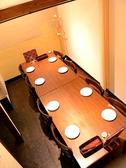最大8名様までOKの完全個室も完備!!少人数の飲み会にも、会社の部署ごとの飲み会にも、ママ友と語らうにも◎