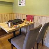 個室対応のテーブル席!全席完全個室となっております。掘り炬燵席が苦手な方はテーブル席もございます。