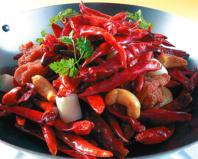 名物☆鶏とカシューナッツの赤唐辛子炒め