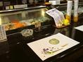 一人でも気軽にカウンターでお寿司を。