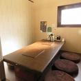 1Fのお座敷個室。個室&座敷でゆったりお食事を楽しめるので、お子様連れのご家族に人気♪