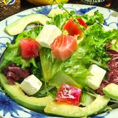 料理メニュー写真まぐろとアボカドのサラダ仕立て