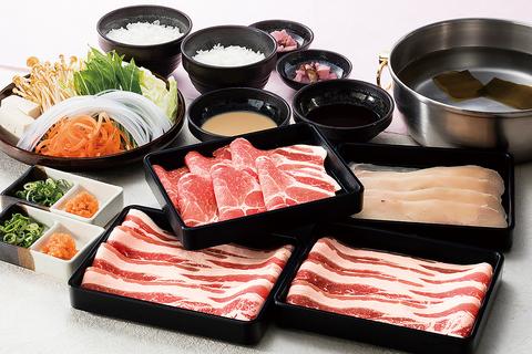 【120分食べ放題】しゃぶしゃぶ・すき焼 『牛豚』コース
