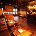 【50名様~60名様まで貸し切り可能】昭和レトロの雰囲気が心地良く、長時間の宴会でも楽にお寛ぎいただける掘りごたつのお席。大船付近で居酒屋をお探しでしたら是非当店を!