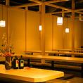 団体様の人数に応じて変更可能な個室☆大型宴会も1つの個室でOK★会社宴会・同窓会等に◎