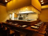 カウンターは、単品料理が主。鮮魚を使った料理長のおもてなし料理をご堪能ください。