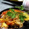 料理メニュー写真鶏ステーキ(長州鶏) 天然石で焼いて…