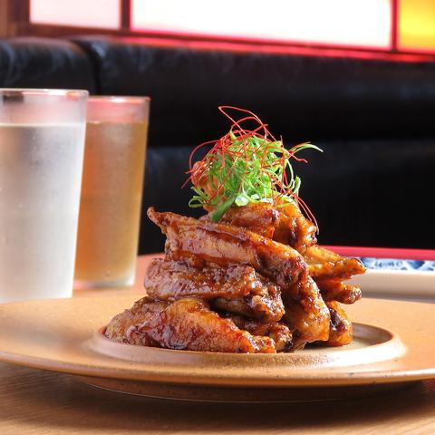 鶏からをメインに、やきとん&串揚げを楽しむカジュアル居酒屋★掘りごたつ個室あり