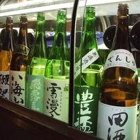 豊富な地酒は全国各地から
