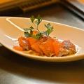 料理メニュー写真ノルウェー産自家製マリネサーモン(和・洋)