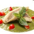 料理メニュー写真白身魚のソテー(ジェノヴァ風ソース/レモンのソース)