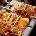 【炭火焼鳥】備長炭で焼き上げた焼き鳥、肉にもこだわりをもって焼いています。是非一度食べに来て下さい♪