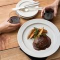料理メニュー写真和牛100%粗挽きハンバーグ