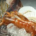 【上焼肉特別内容】…海老・イカ・ほたて…上焼肉では豪華海鮮も食べ放題!!上質肉だけでなく、新鮮な海鮮類をご堪能ください!