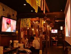 TVやスクリーンも設置。飲みながらスポーツ観戦できます!カープ、サンフレッチェ、みんなで応援しよう!