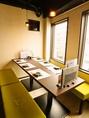 7階「離れ」の個室は1室8名様迄。ご予約はお早めに。
