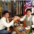 【宴会風景】テーブルでもしっぽり♪仕事の疲れを日本酒で癒してください♪