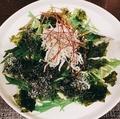 料理メニュー写真水菜じゃこサラダチョレギ仕立て