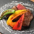 料理メニュー写真黒毛和牛A5ランク イチボステーキ