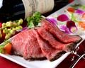 料理メニュー写真黒系和牛自家製ローストビーフ